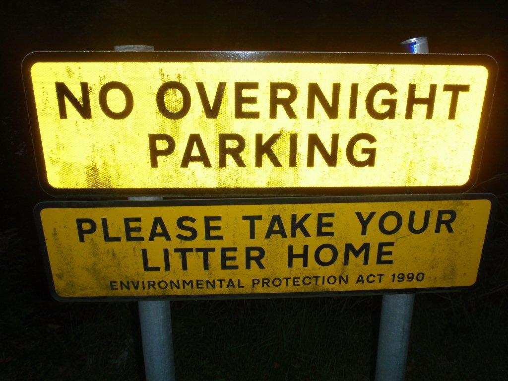 Review of 'No Overnight Parking' Signs at trunk road laybys