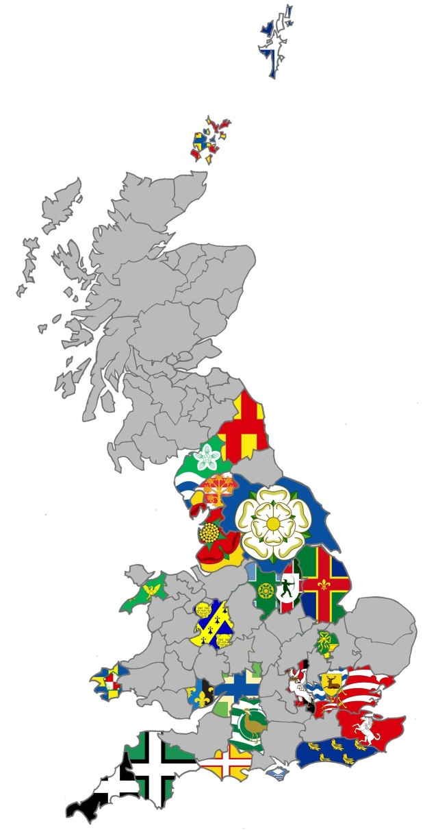 UK County Flag Map
