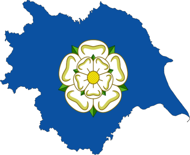 Yorkshire flag map