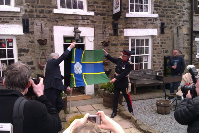 North Riding Flag Unfurling