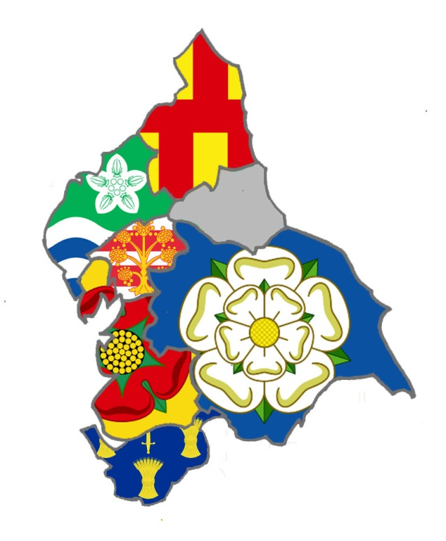 England [North] County Flag Map