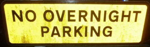 No Overnight Paking