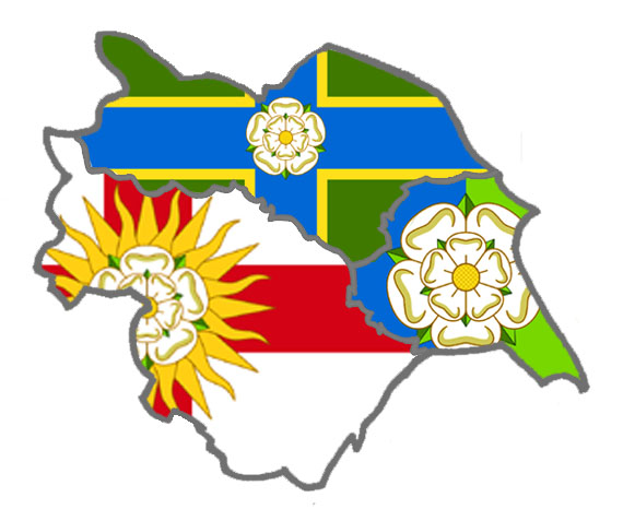 Yorkshire Ridings Flag Map