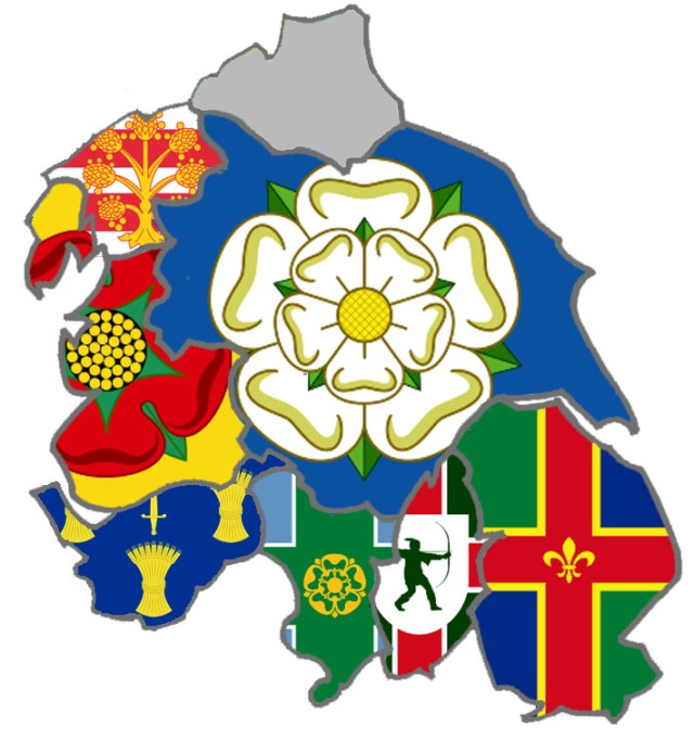 Yorkshire Neighbours Flag Map