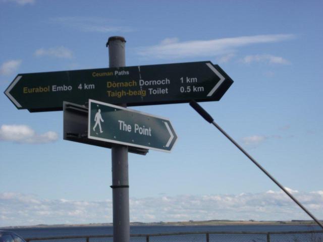 signs in beach car park