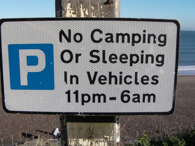 No Camping in Vehicles