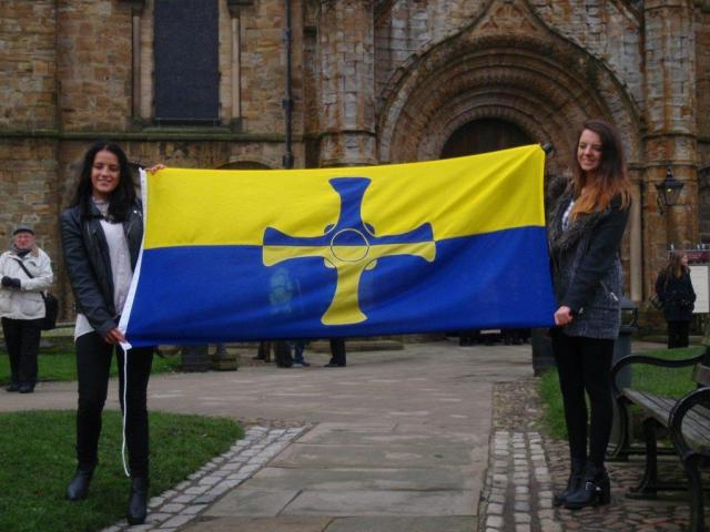 County Durham Flag Unfurling 1
