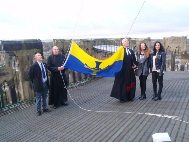 County Durham Flag Unfurling 3