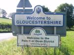 Gloucestershire Boundary Road Sign