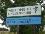 Lincolnshire Boundary Road Sign