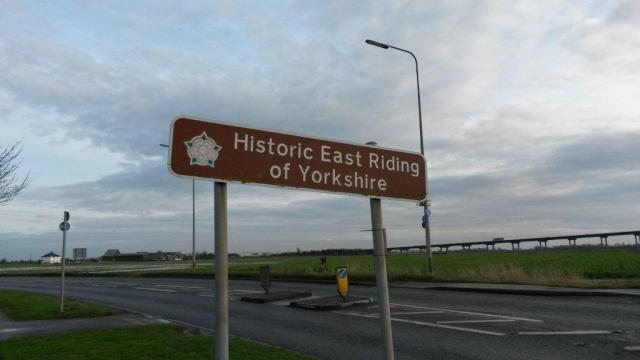 East Riding Boundary Sign