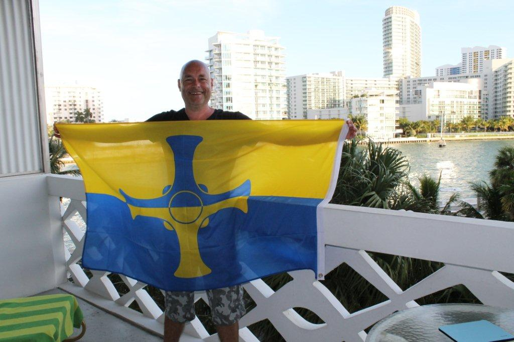 County Durham Flag In Miami Beach Andy Strangeway