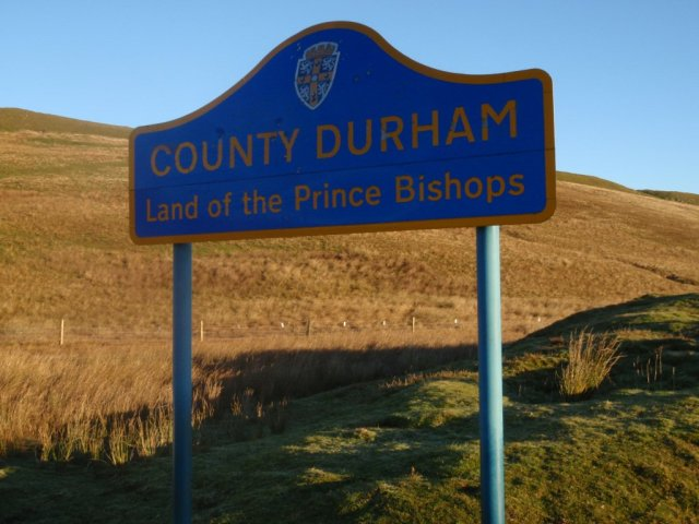 Durham County Council Road Sign