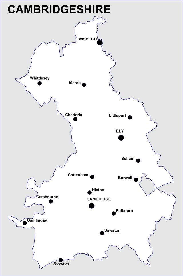 Cambridgeshire Map