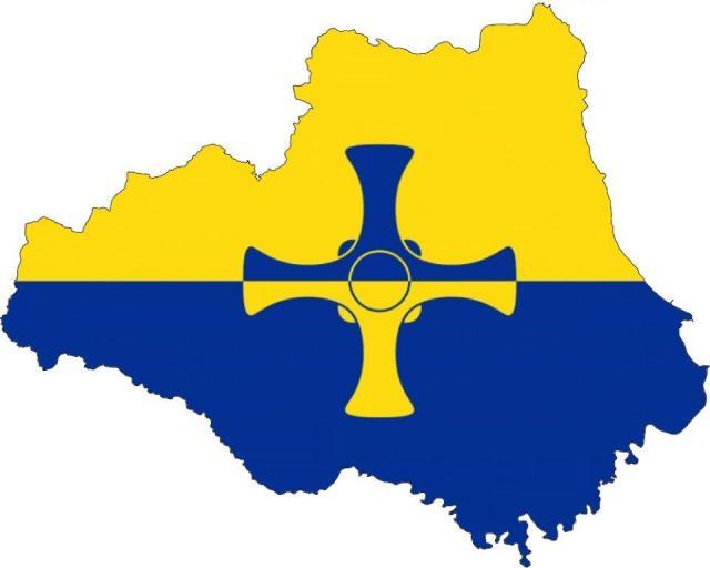 County Durham Flag Map