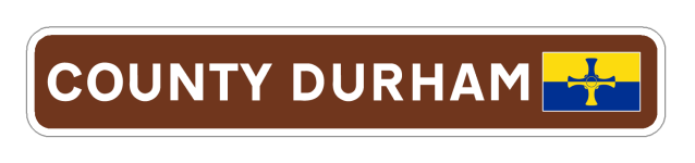 County Durham Road Sign