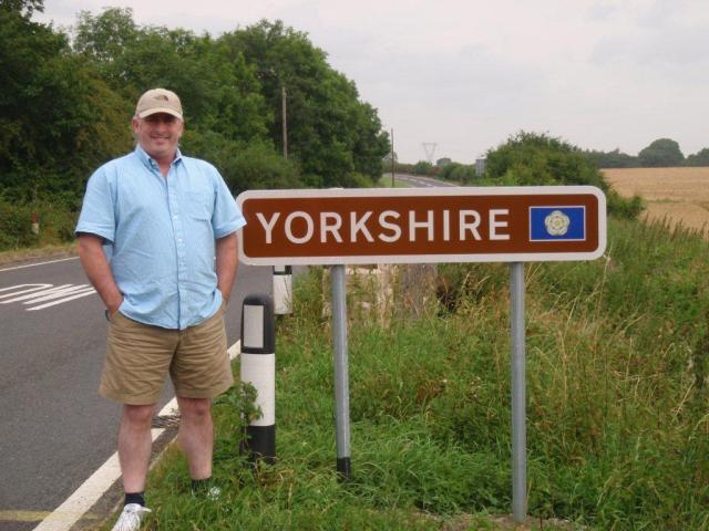 Unveiling of the First Yorkshire Boundary Sign 1