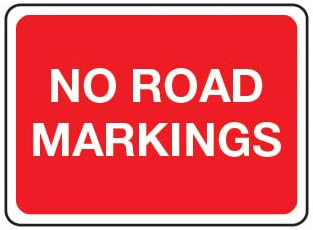 No Road Markings
